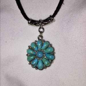 Jewelry - 🌀Faux Turquoise Silver-tone Statement Necklace🌀